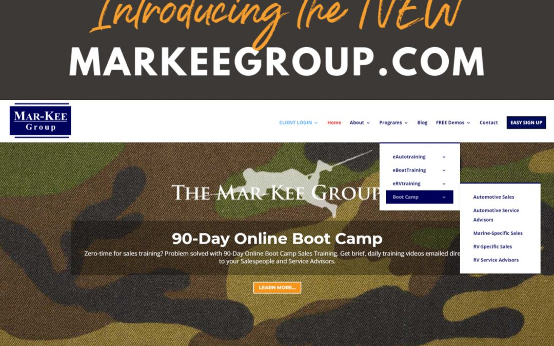 The Mar-Kee Group Announces Website Redesign for eAutotraining, eBoatTraining, & eRVtraining Users